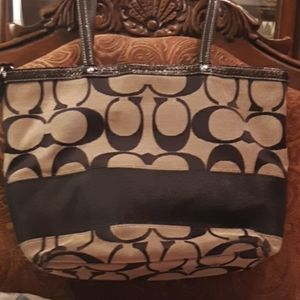 A Coach purse. used